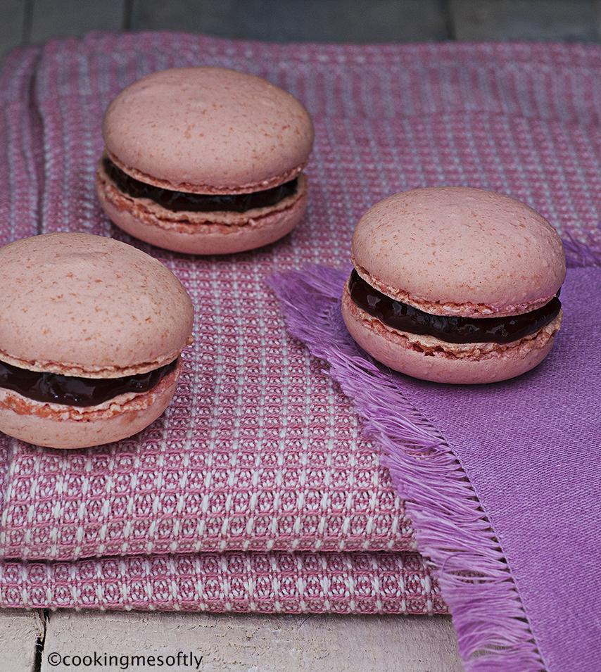 Raspberry Macarons web