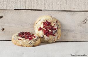 white chocolate cranberries cookies