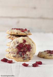 biscotti cioccolato bianco e mirtilli