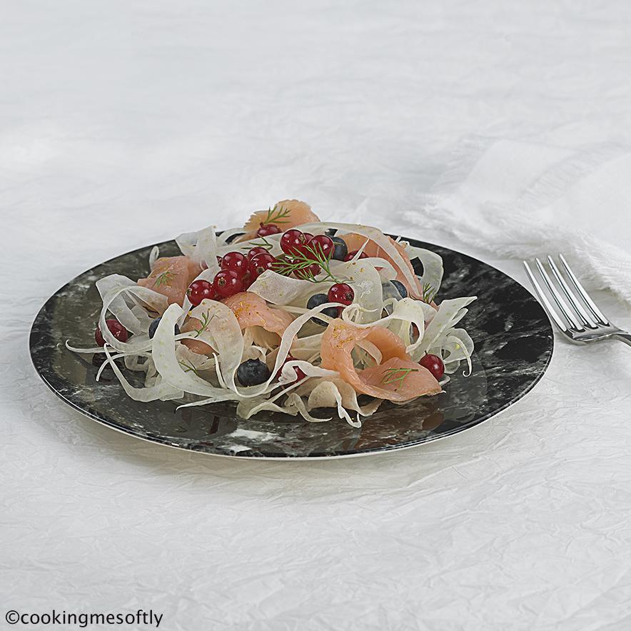 insalata finocchi e salmone