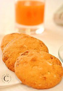 cookies con cioccolato bianco e noci Macadamia