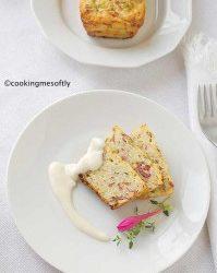 Cake di riso con salsa al Parmigiano