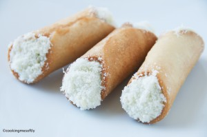 Bread cannoli with gorgonzola mousse