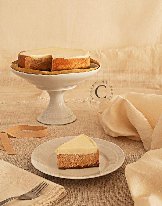 New York cheesecake al dulce de leche