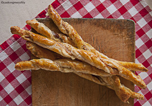 Puff pastry bacon cheese twisties