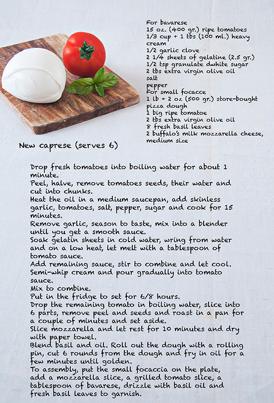 New caprese recipe web