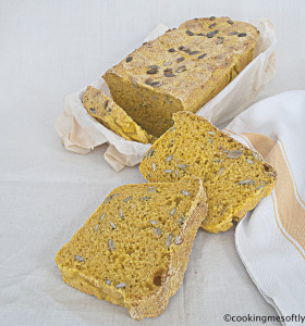 Yellow pumpkin bread