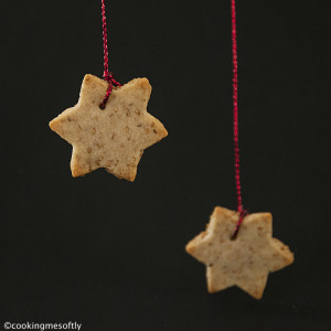 Sesame seeds star cookies 2