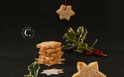 Sesame seeds star cookies