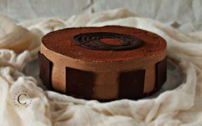 Torta moderna vaniglia e cioccolato