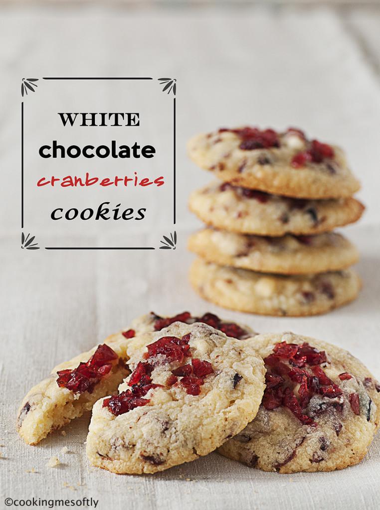 biscotti al cioccolato bianco e mirtilli rossi