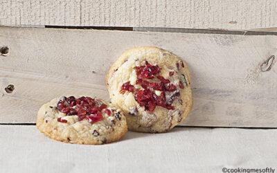 White chocolate cranberries cookies # 2