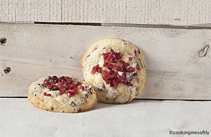 White chocolate cranberries cookies # 2