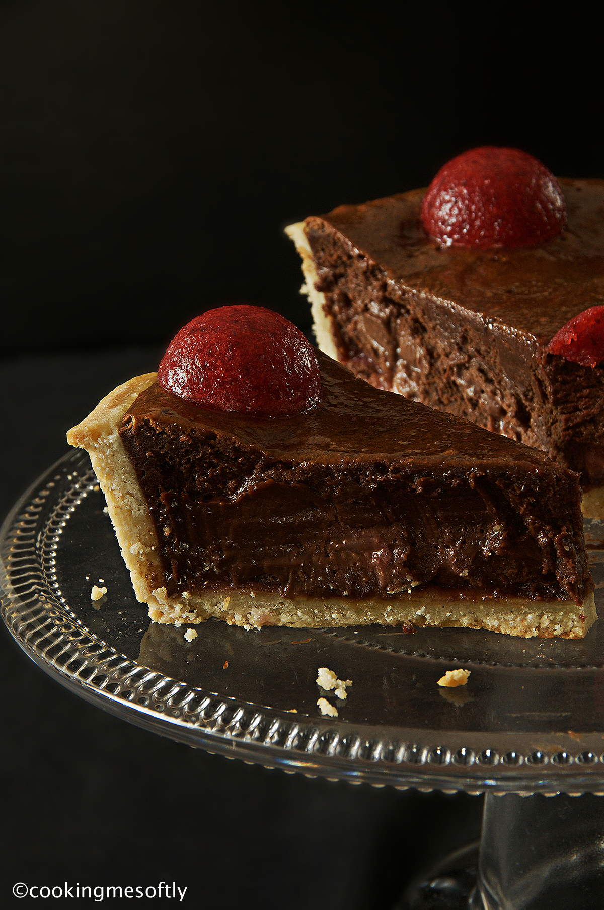 Crostata brownies alle fragole