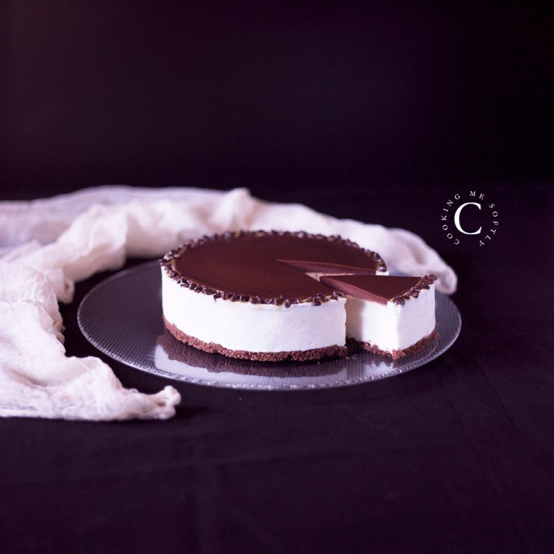 Gorgeous yogurt chocolate chantilly cake