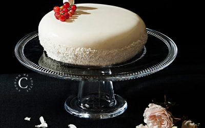 Coconut – red berries entremets