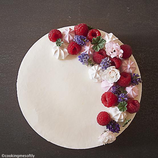Raspberries not baked cheesecake 2