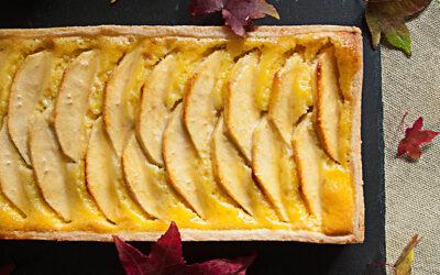 Crostata di mele con la panna