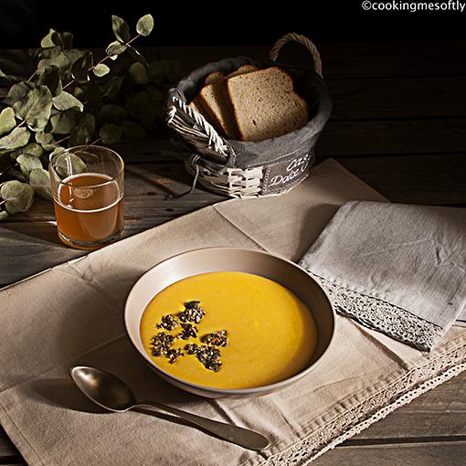 Crema di zucca con zenzero e granola 1