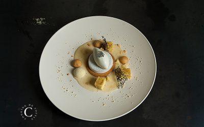 Tarte Infiniment Vanille: plated dessert