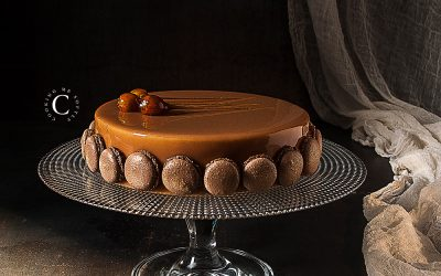Chocolate, hazelnuts and praline entremets