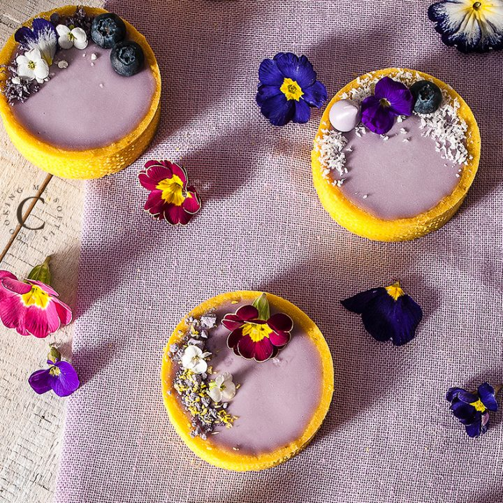 tartellette violetta e mirtilli