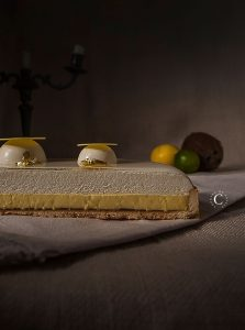 crostata limone, lime e cocco