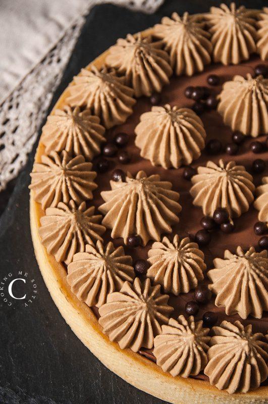crostata al cioccolato e caffè