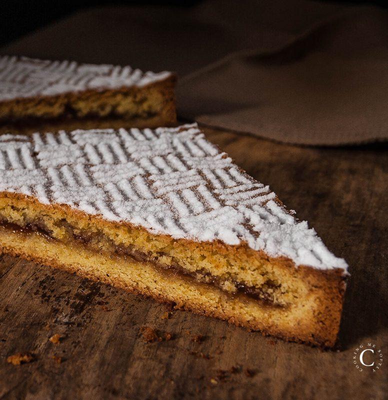 crostata sablé breton con confettura di fragole