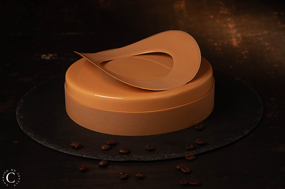 Caramel and coffee entremet