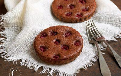 Rasperries soft brownies