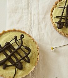 Basil ice cream tarts